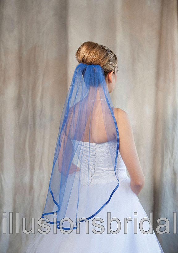 Item Is Available With Royal Blue Veiling